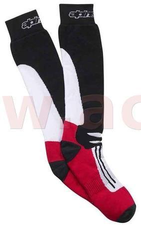 Obrázek produktu Ponožky RACING ROAD COOLMAX®, ALPINESTARS - Itálie (černá/bílá/červená)