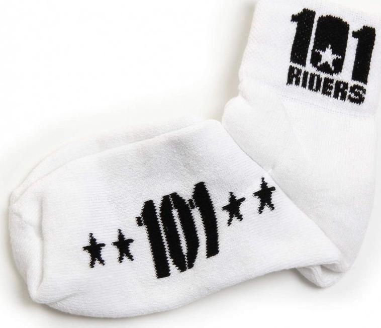 Obrázek produktu ponožky 101 FOOTWEAR, 101 RIDERS - ČR (bílé/černé)