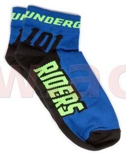 Obrázek produktu ponožky ROCK, 101 RIDERS - ČR (černé/modré) PONOŽKY
