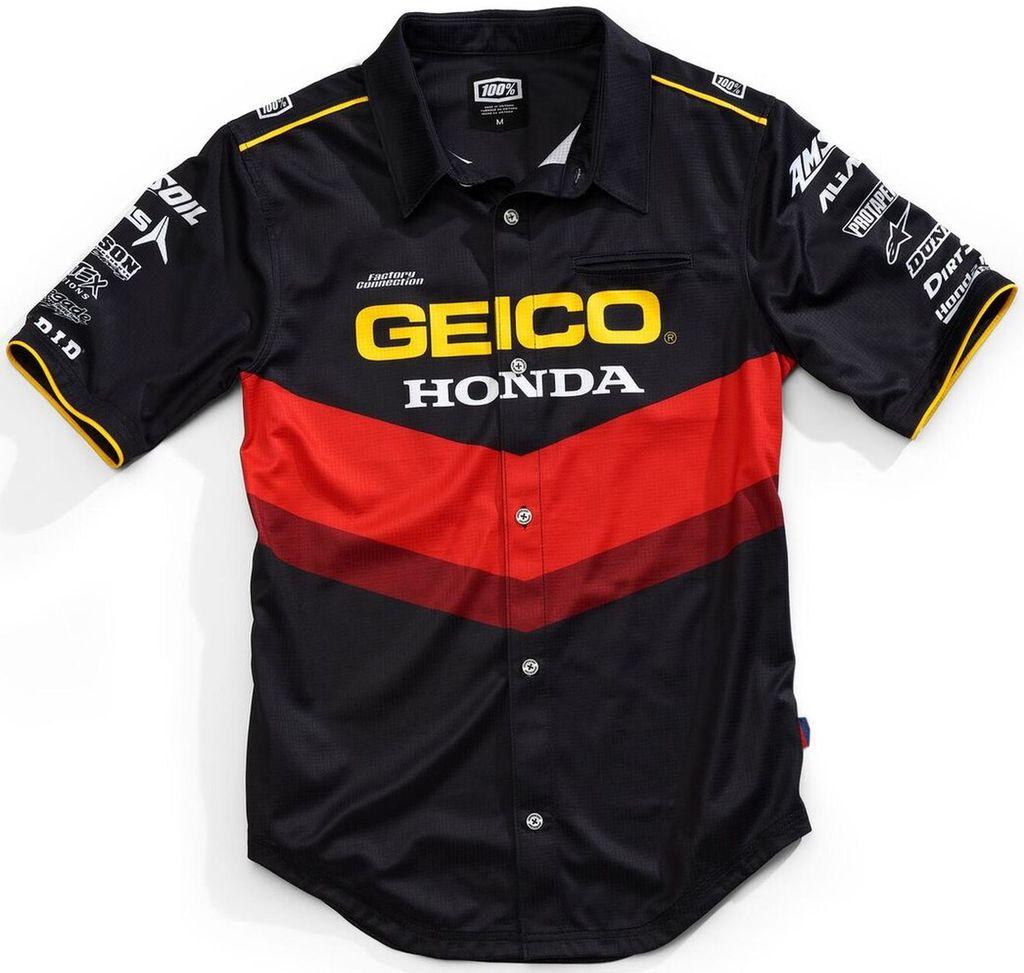 Obrázek produktu košile PILOT GEICO HONDA, 100% (černá) 33901-001