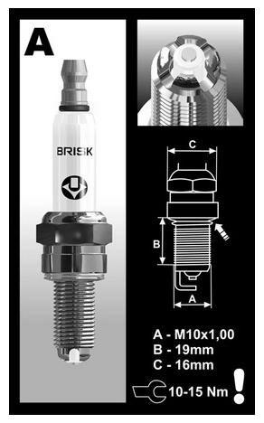 Obrázek produktu zapalovací svíčka AOR10LGS řada PREMIUM LGS RACING, BRISK - Česká Republika