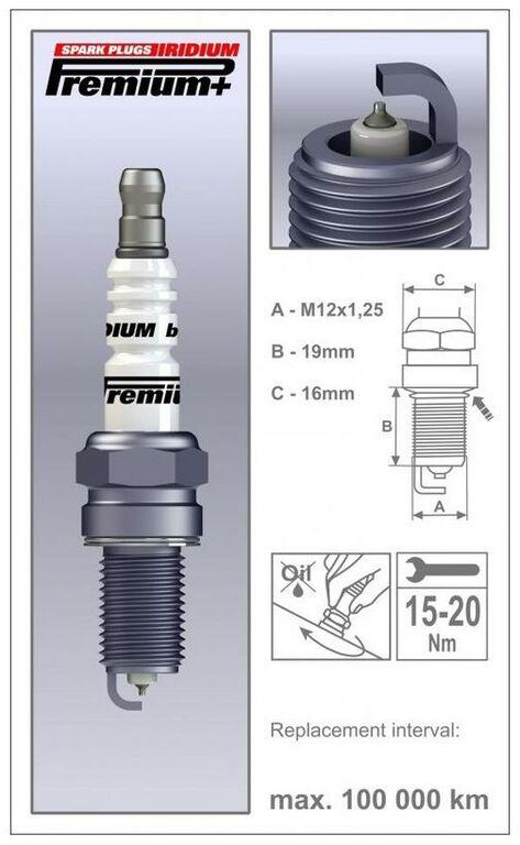 Obrázek produktu zapalovací svíčka P38 řada Premium Iridium+, BRISK - Česká Republika