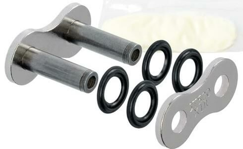 Obrázek produktu spojka řetězu 520X1R, JT CHAINS (barva stříbrná, nýtovací, typ RIVET)