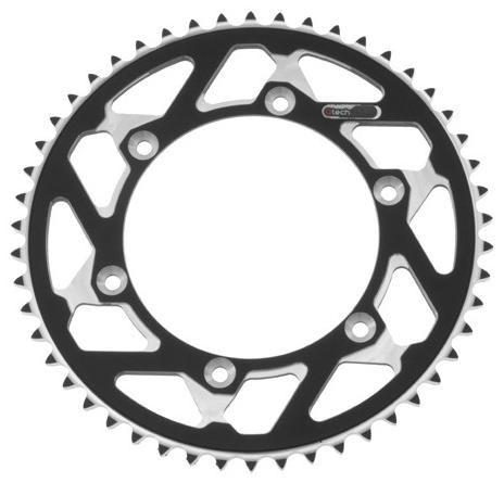 Obrázek produktu duralová rozeta MASTER pro sekundární řetězy typu 520, Q-TECH (černý elox, 50 zubů) JTR460.50 ČERNÁ