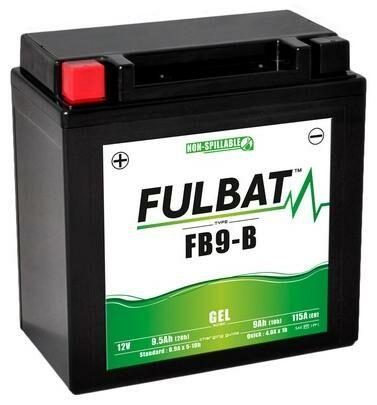 Obrázek produktu baterie 12V, FB9-B , YTX9A-BS, 9,5Ah, 115A, bezúdržbová GEL 135x75x139, FULBAT (aktivovaná ve výrobě) 550925