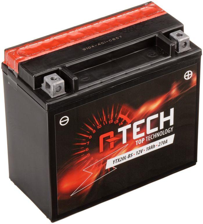 Obrázek produktu baterie 12V, YTX20L-BS, 18Ah, 270A, bezúdržbová MF AGM 175x87x155, A-TECH (vč. balení elektrolytu)