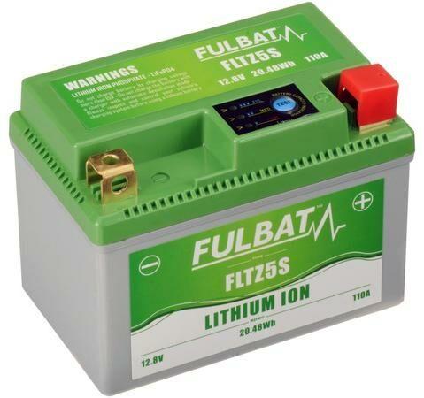 Obrázek produktu lithiová baterie  LiFePO4  FULBAT  12V, 1,6Ah, 110A, 0,36 kg, 113x70x85 mm nahrazuje typy: (CTZ5S-BS, CBTX4L-BS, CBTX5L-BS)