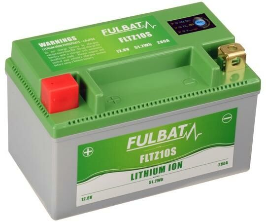 Obrázek produktu lithiová baterie  LiFePO4  FULBAT  12V, 4Ah, 280A, hmotnost 0,7 kg, 150x87x93 mm nahrazuje typy: (CTZ10S-BS)