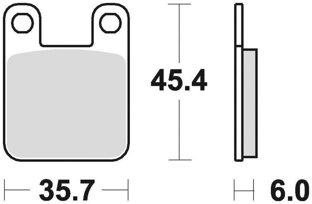Obrázek produktu brzdové destičky, BRAKING (semi-metalická směs SM1) 2 ks v balení 621SM1