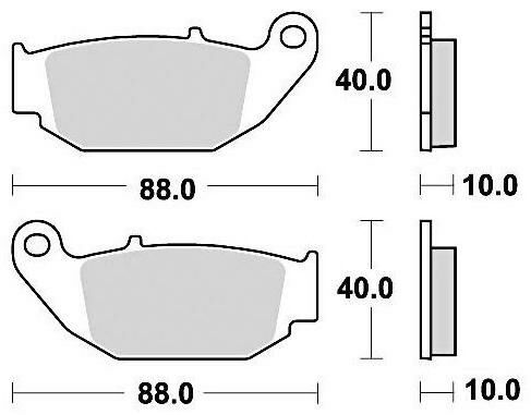 Obrázek produktu brzdové destičky, BRAKING (semi-metalická směs SM1) 2 ks v balení