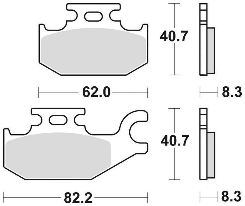 Obrázek produktu brzdové destičky, BRAKING (sinterová směs CM44) 2 ks v balení