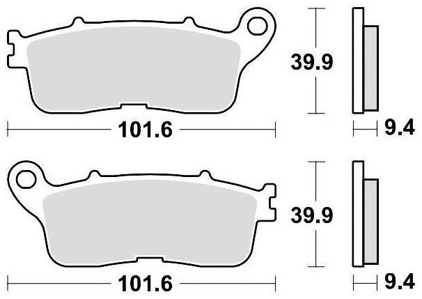 Obrázek produktu brzdové destičky, BRAKING (sinterová směs CM56) 2 ks v balení
