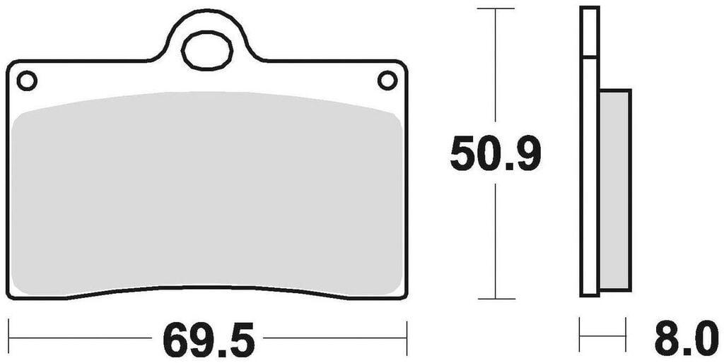 Obrázek produktu brzdové destičky, BRAKING (semi metalická směs CM66) 2 ks v balení 688CM66