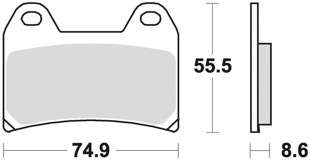 Obrázek produktu brzdové destičky, BRAKING (semi metalická směs CM66) 2 ks v balení 784CM66