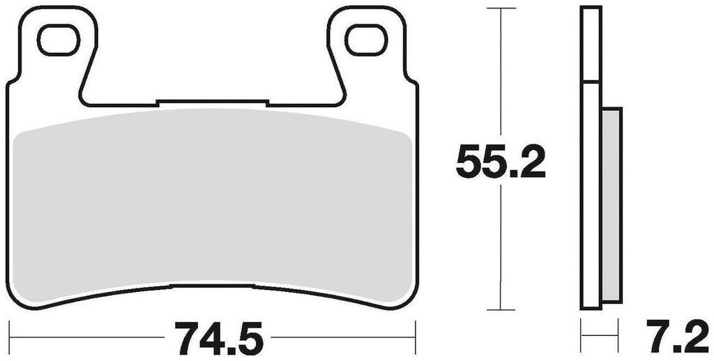 Obrázek produktu brzdové destičky, BRAKING (semi metalická směs CM66) 2 ks v balení 827CM66