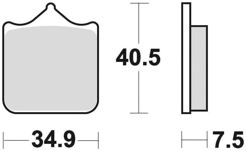 Obrázek produktu brzdové destičky, BRAKING (semi metalická směs CM66) 2 ks v balení 870CM66