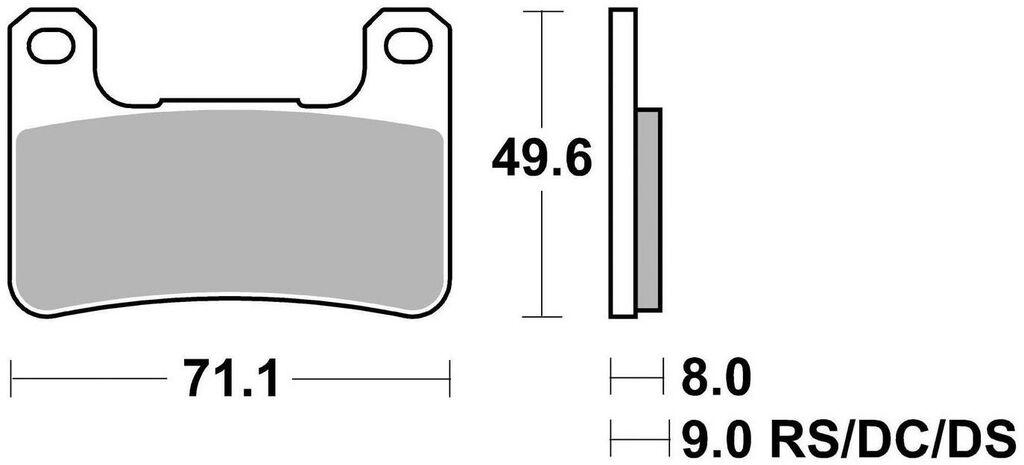 Obrázek produktu brzdové destičky, BRAKING (semi metalická směs CM66) 2 ks v balení 898CM66