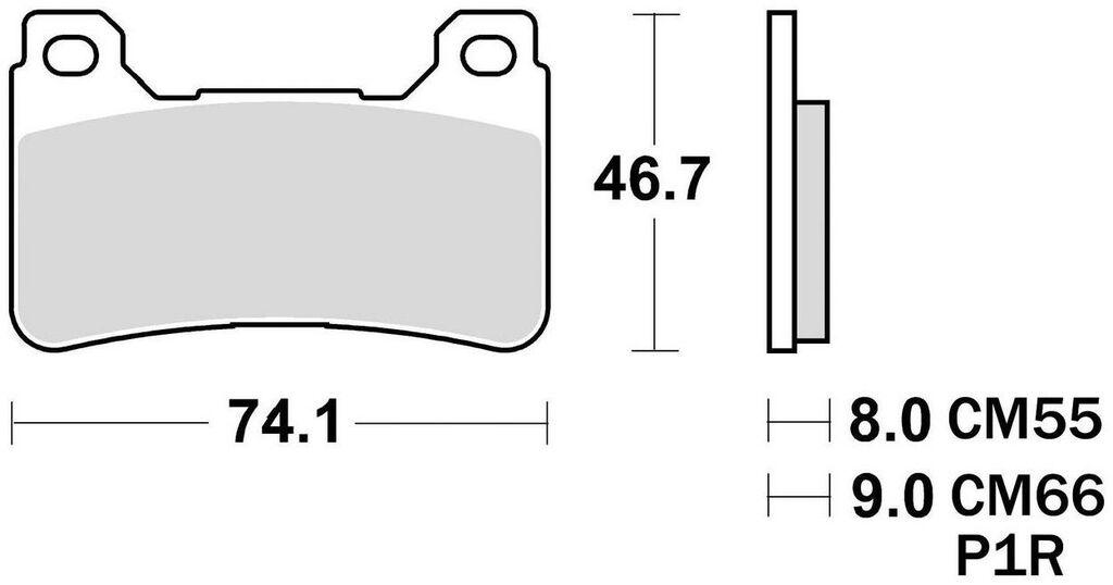Obrázek produktu brzdové destičky, BRAKING (semi metalická směs CM66) 2 ks v balení 899CM66