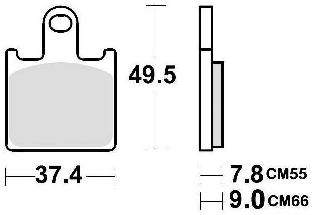 Obrázek produktu brzdové destičky, BRAKING (semi metalická směs CM66) 2 ks v balení 927CM66