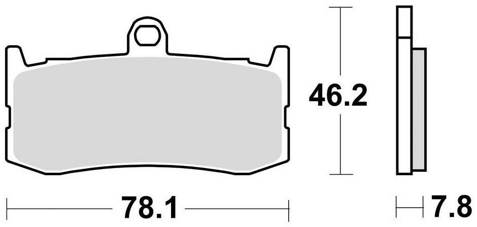 Obrázek produktu brzdové destičky, BRAKING (semi metalická směs CM66) 2 ks v balení