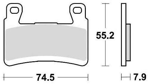 Obrázek produktu brzdové destičky, BRAKING (semi metalická směs CM66) 2 ks v balení 959CM66
