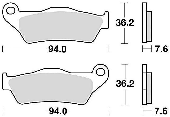 Obrázek produktu brzdové destičky, BRAKING (sinterová směs CM46) 2 ks v balení
