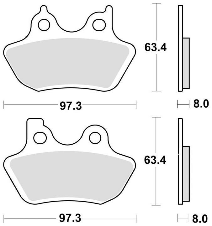 Obrázek produktu brzdové destičky, BRAKING (sinterová směs CM77) 2 ks v balení