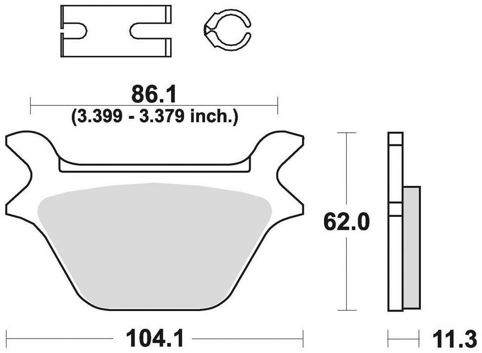 Obrázek produktu brzdové destičky, BRAKING (sinterová směs CM88) 2 ks v balení 734CM88
