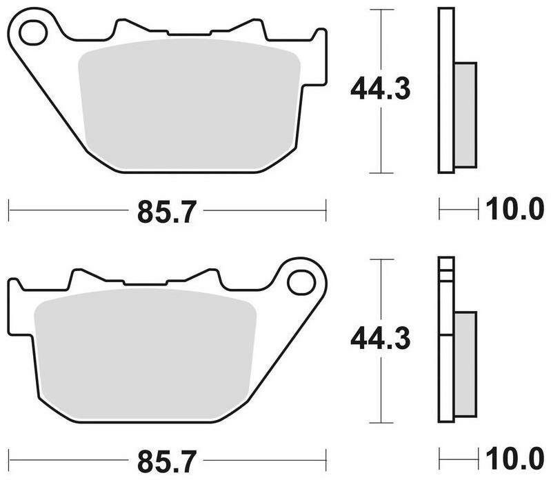 Obrázek produktu brzdové destičky, BRAKING (sinterová směs CM88) 2 ks v balení 901CM88