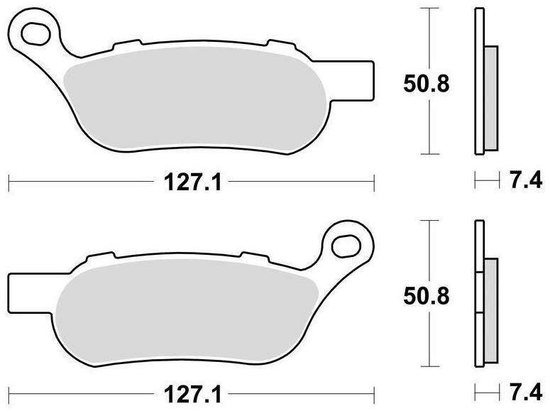 Obrázek produktu brzdové destičky, BRAKING (sinterová směs CM88) 2 ks v balení 944CM88