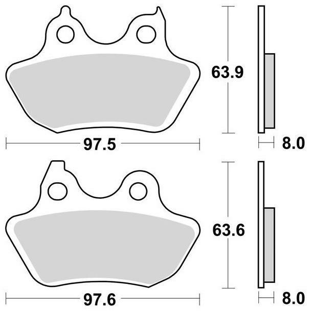 Obrázek produktu brzdové destičky, BRAKING (sinterová směs CM88) 2 ks v balení 951CM88