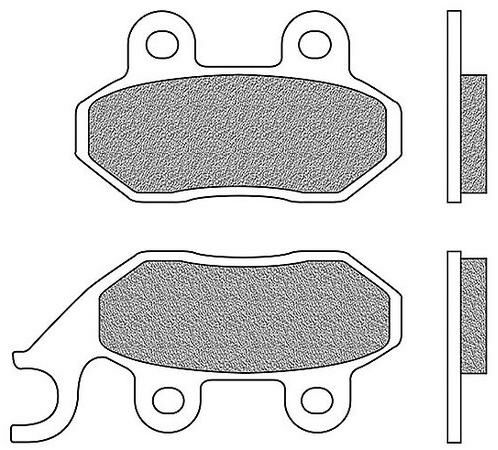Obrázek produktu brzdové destičky zadní, 2 ks v balení (aplikace pro pravostranný brzdič)