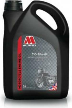 Obrázek produktu MILLERS OILS ZSS 10W40, polosyntetický olej pro 4T motory, vhodný pro aplikace s mokrou spojkou 4 l 79864
