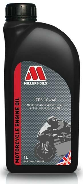 Obrázek produktu MILLERS OILS ZFS 10W40, plně syntetický olej pro 4T motory, vhodný pro aplikace s mokrou spojkou 1 l 79881