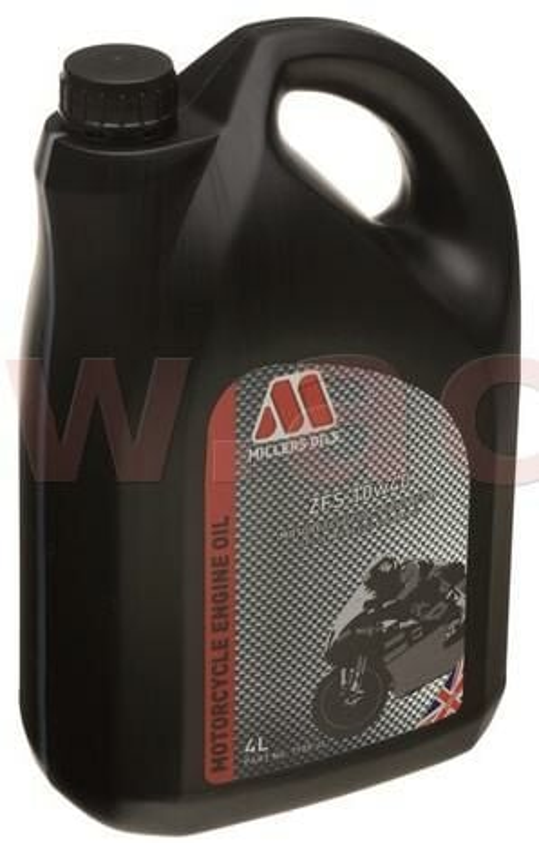 Obrázek produktu MILLERS OILS ZFS 10W40, plně syntetický olej pro 4T motory, vhodný pro aplikace s mokrou spojkou 4 l 58354