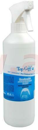 Obrázek produktu TOPGOLD deodorační antimikrobakteriální sprej do obuvi 500 ml, rozprašovač 0706