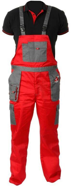 Obrázek produktu Pracovní kalhoty ACI montérky s laclem červenošedé letní  12172