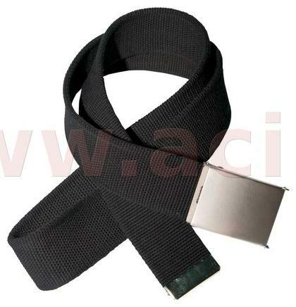 Obrázek produktu černý látkový opasek s kovovou přezkou 135 cm 1160000056412