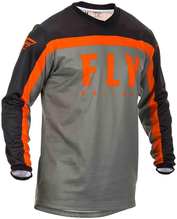 Obrázek produktu dres F-16 2020, FLY RACING (šedá/černá/oranžová) 373-925