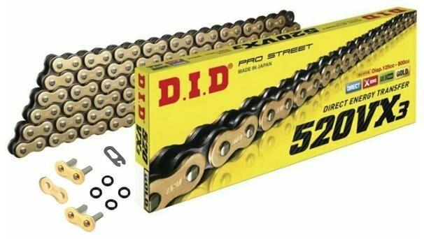 Obrázek produktu řetěz 520VX2, D.I.D. - Japonsko (barva černo-zlatá, 102 článků vč. spojky ZJ)