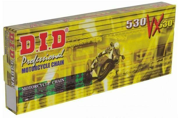 Obrázek produktu řetěz 530VX, D.I.D. - Japonsko (barva černá, 100 článků vč. spojky ZJ)