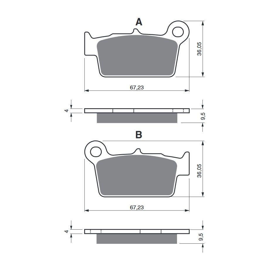 Obrázek produktu Brzdové destičky GOLDFREN K5-LX
