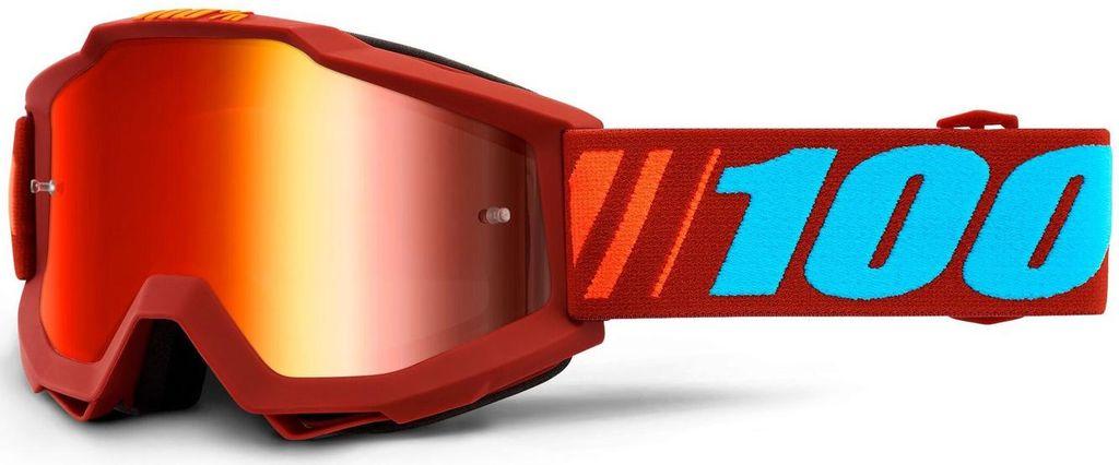 Obrázek produktu brýle ACCURI DAUPHINE, 100% - USA (červené zrcadlové plexi) 50210-346-02