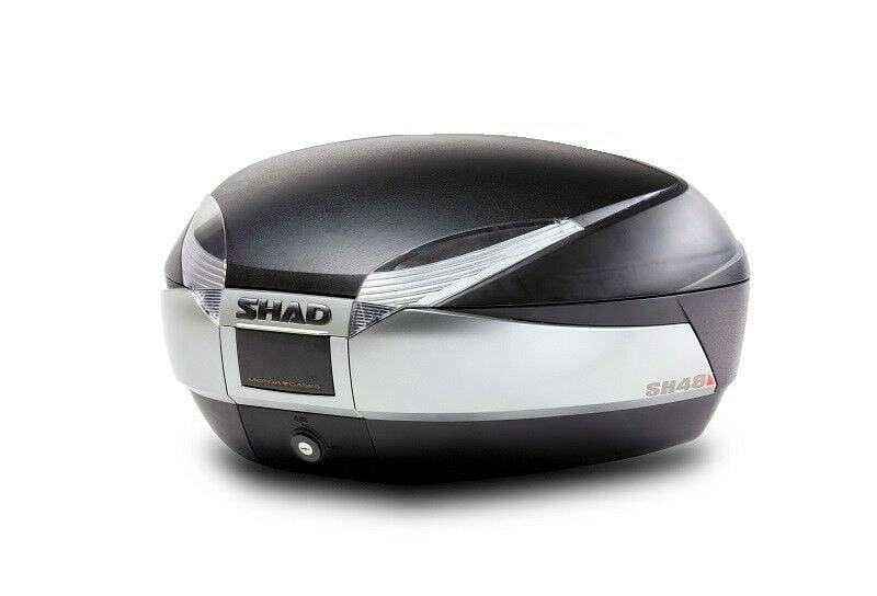 Obrázek produktu Vrchní kufr na motorku SHAD SH48 nový titan se zámkem PREMIUM SMART