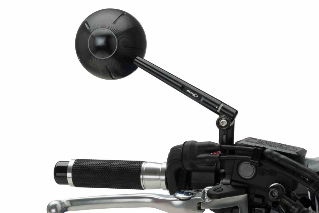 Obrázek produktu Zpětné zrcátko PUIG RETRO černý pravé (včetně kitu adaptéru)