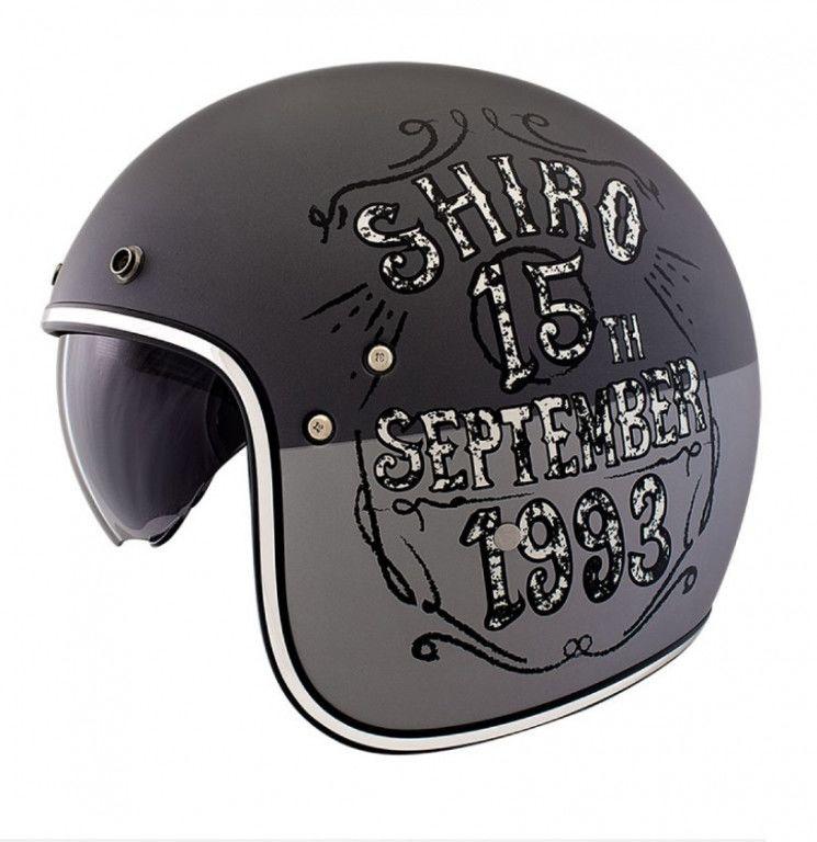 Obrázek produktu Přilba SHIRO SH-235 BORN šedá / šedá L 128.0235330L