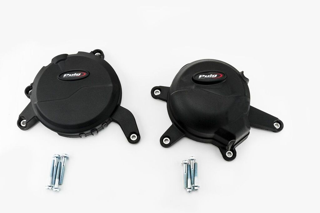 Obrázek produktu Ochranné kryty motoru PUIG černý zahrnuje pravý a levý kryt 20140N