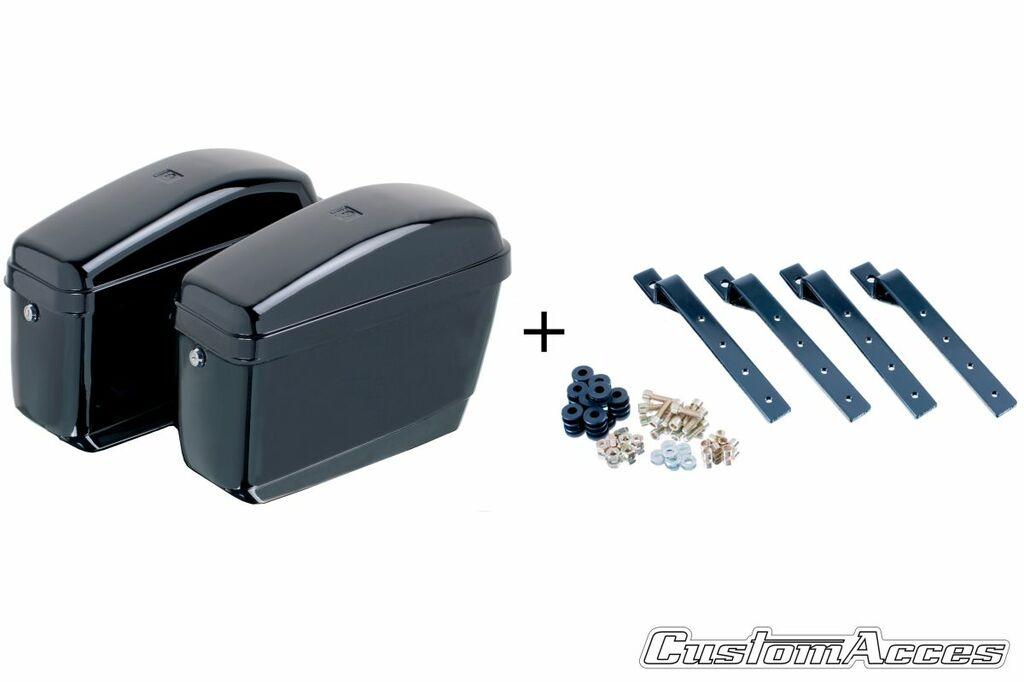 Obrázek produktu Boční kufry CUSTOMACCES EASY černý pair, with KF universal support