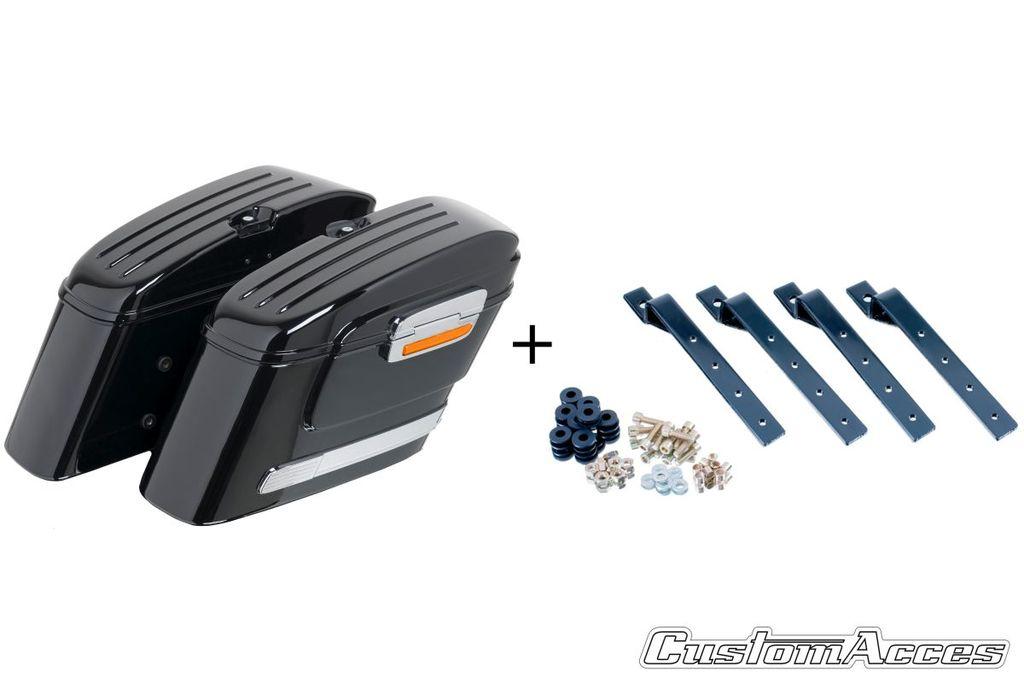 Obrázek produktu Boční kufry CUSTOMACCES AMERICAN černý pair, with KF universal support