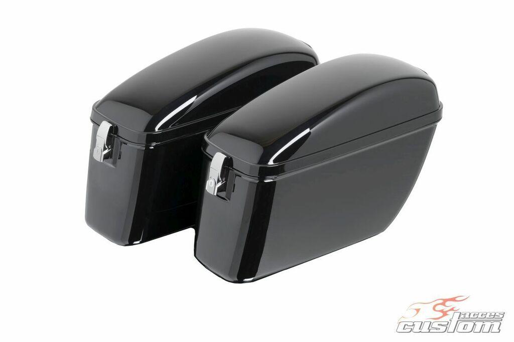 Obrázek produktu Boční kufry CUSTOMACCES SILVER černý pár ARS006N